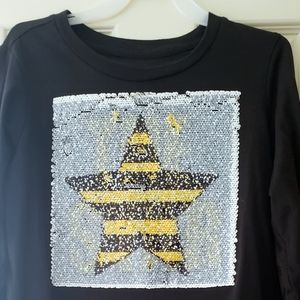 Girl's L/S Top with Flippable Sequins 14/16